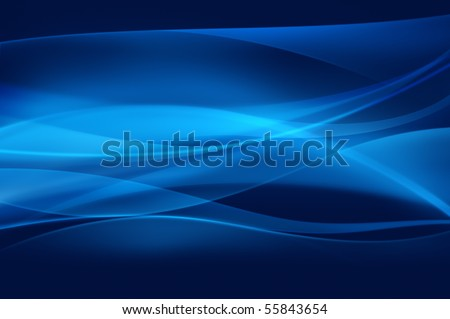 Abstract blue background, wave or smoke texture - stock photo