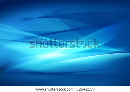 Abstract blue background, wave or veil texture - stock photo