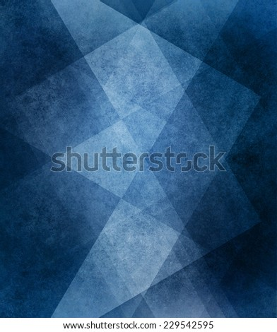 abstract blue background white striped pattern and blocks in diagonal lines with vintage blue texture design elements - stock photo