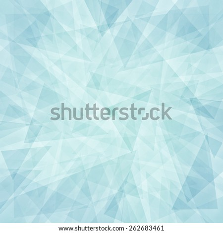 abstract blue background white triangular layers in random abstract pattern detailed texture design - stock photo