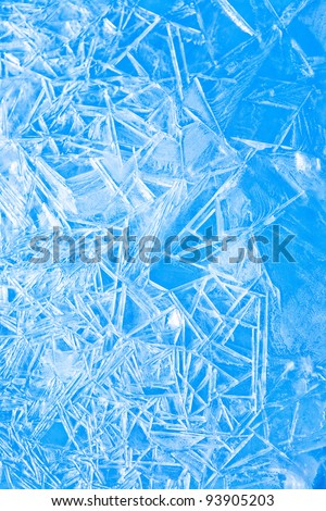 Abstract blue background winter, the frozen ice texture - stock photo