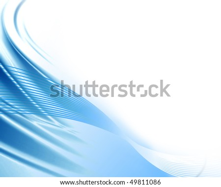abstract blue background with a swirl in it - stock photo