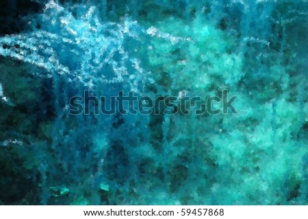Abstract blue background with a variety of textures.