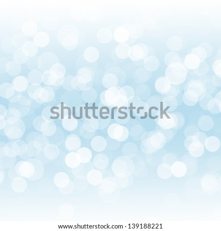 Abstract blue background with bokeh - stock photo