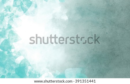 Abstract blue background with clouds - stock photo