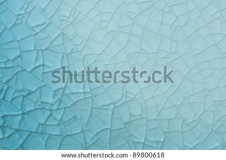 Abstract blue background with cracks - stock photo