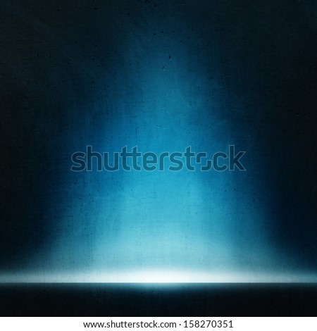 abstract blue background with misterial light. - stock photo