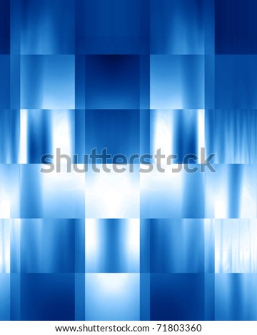 abstract blue background with some cubic features in it - stock photo