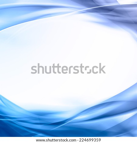 abstract blue background with wavy lines