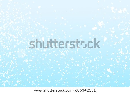 Abstract blue background with white round  bokeh or glitter lights background. Circles and defocused particles.