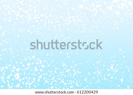 Abstract blue background with white round  bokeh or glitter lights background. Circles and defocused particles