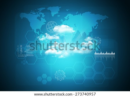 Abstract blue background world map graphical stock illustration abstract blue background with world map and graphical chart connection all over world gumiabroncs Images