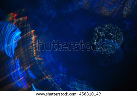 Abstract blue black orange background fractal
