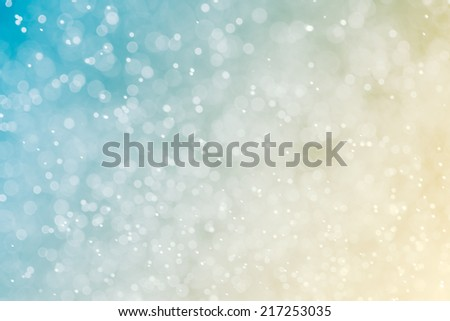 Abstract blue blur  bokeh background - stock photo