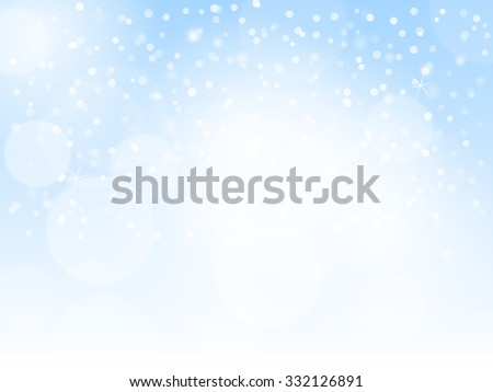 Abstract blue bokeh christmas background with sparkles