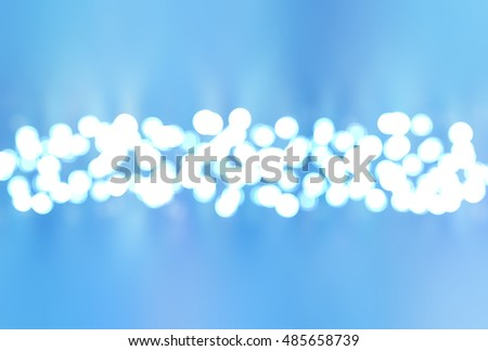 abstract blue bokeh circles with particles. illustration beautiful.
