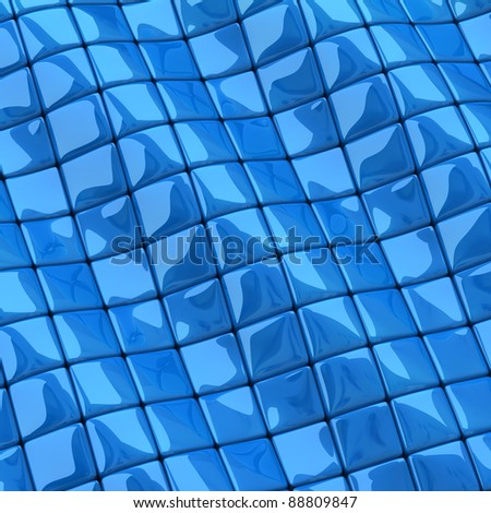 Abstract blue checkered background