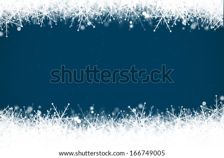 Abstract blue christmas background.