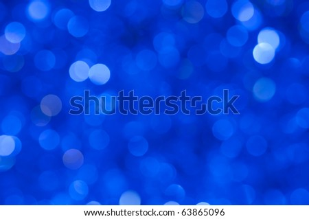 Abstract blue christmas lights background - stock photo