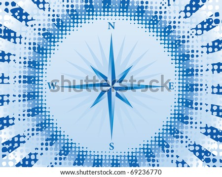 Abstract blue compass background