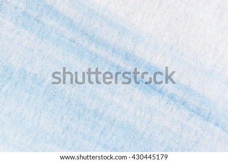 Abstract blue Cotton knitted fabric pattern texture as background - stock photo