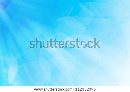 abstract blue curves background. - stock photo