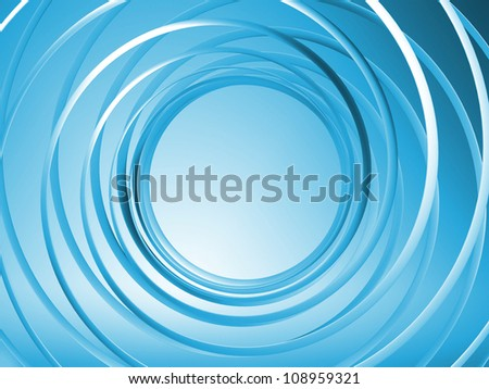 Abstract blue 3d spiral background - stock photo