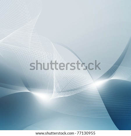 abstract blue digital space - stock photo
