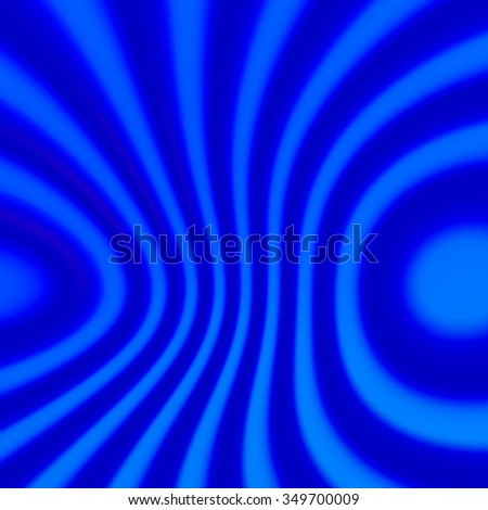 Abstract blue distorted stripes background. Soft blur effect. Blurred ring shape decor. Full frame picture. Dynamic wave lines. Cold cyan halftone. Trendy smooth style. Modern creative idea. - stock photo