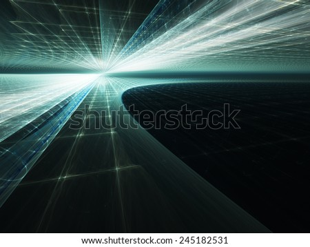 Abstract blue dynamic background - stock photo