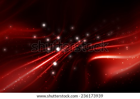 abstract blue elegant background with brilliant waves and stars - stock photo