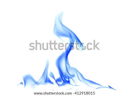 Abstract blue fire. - stock photo