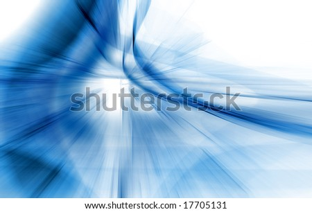 Abstract Blue Fractal Background - stock photo