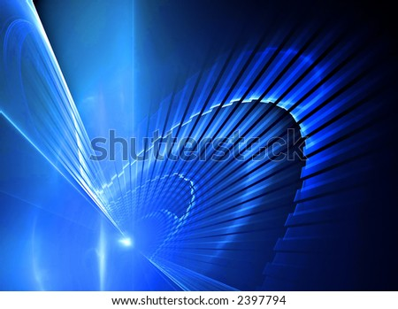 Abstract blue futuristic background texture - stock photo