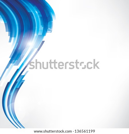 Abstract blue geometric background - stock photo