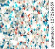 abstract blue glass triangles seamless with grunge effect (raster version) - stock photo