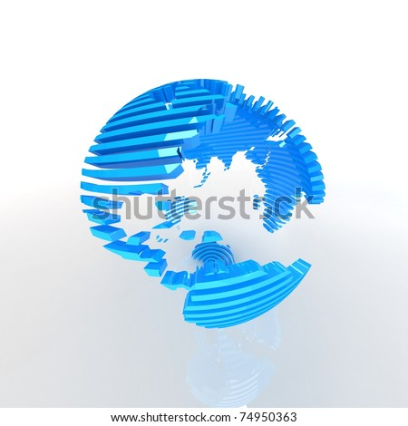 Abstract blue globe.
