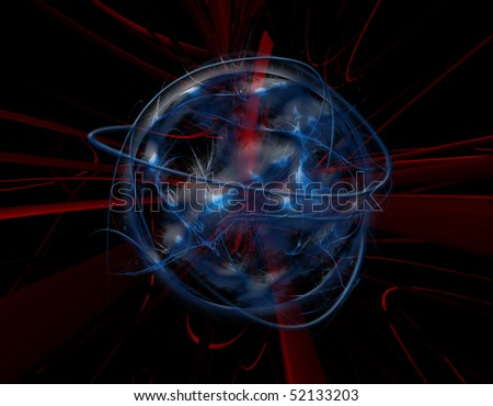 Abstract Blue Globe Background