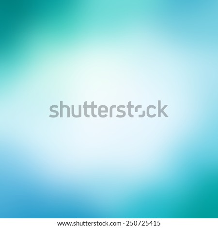abstract blue green background design with smooth blurred background texture,  pale soft opaque white center  - stock photo