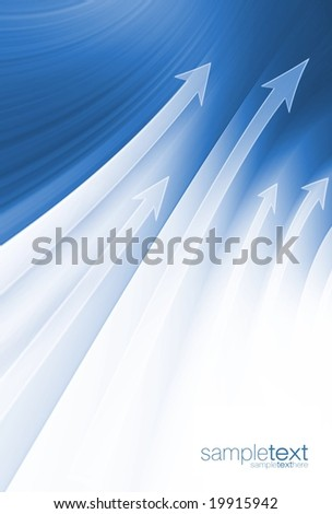 Abstract blue growth (easy to remove the text) - stock photo