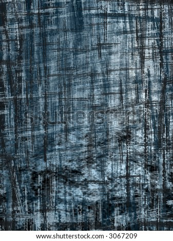 abstract blue grunge crosshatch background - stock photo