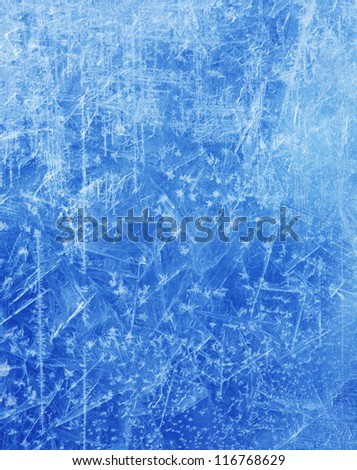 abstract Blue Ice texture Winter background - stock photo