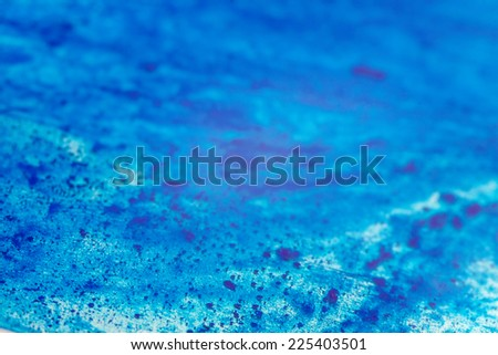 Abstract blue  ink background  - stock photo
