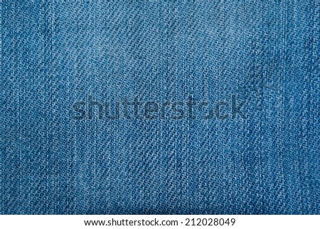 abstract blue jeans texture and background - stock photo