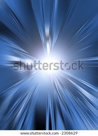 Abstract blue light explosion.