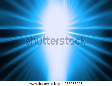 Abstract blue light flare background  - stock photo