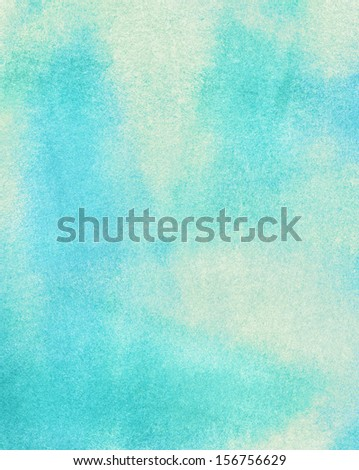 Abstract blue light watercolor background. - stock photo