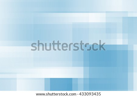 abstract blue lines square background - stock photo