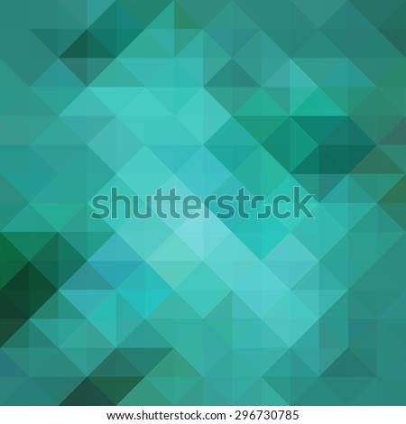 abstract blue low poly background with facets, teal blue triangle and square shapes in geometric modern pattern design, trendy cool 3d pattern design with gloss or shiny stained glass mosaic style - stock photo