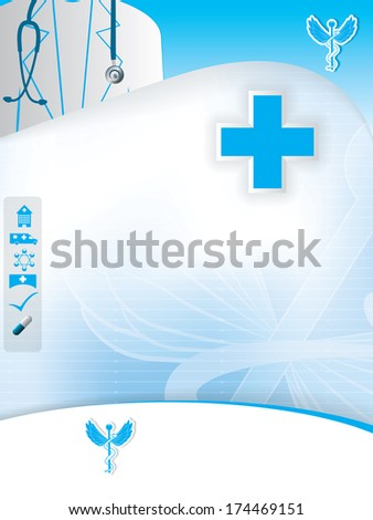Abstract blue medical design template - stock photo